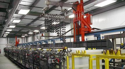 Dual Hoist Technic Anodizing Line Equipment