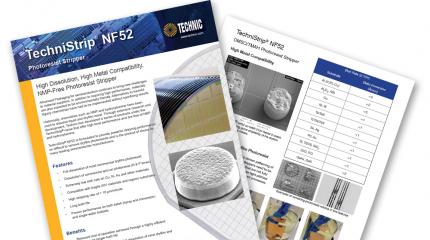 Photoresist Remover, TechniStrip® NF52 for solder bumping applications and TSV mask removal