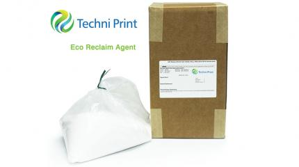 Techni Print Eco Reclaim Agent reduces waste disposal.