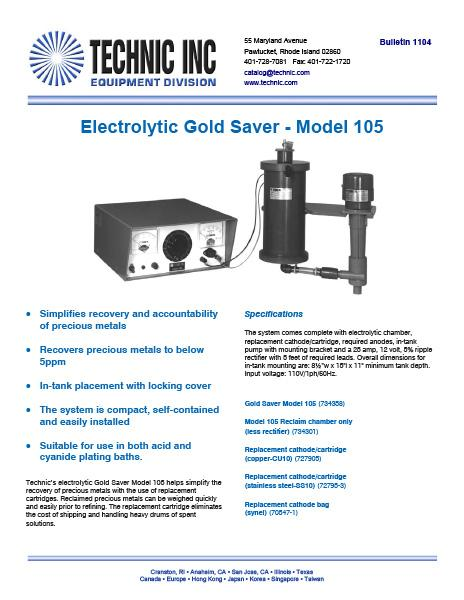 Precious Metal Recovery Equipment | Electrolytic, Ion