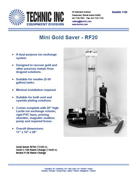 Mini Gold Saver - Model RF20
