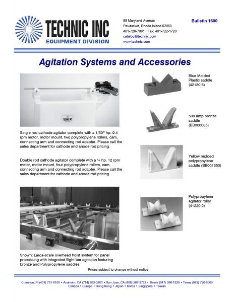 Agitation Systems and Accessories