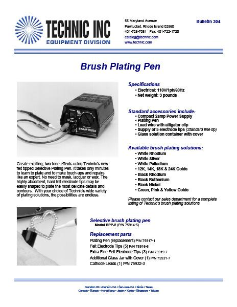 Bulletin 304 - Brush Plating Pen