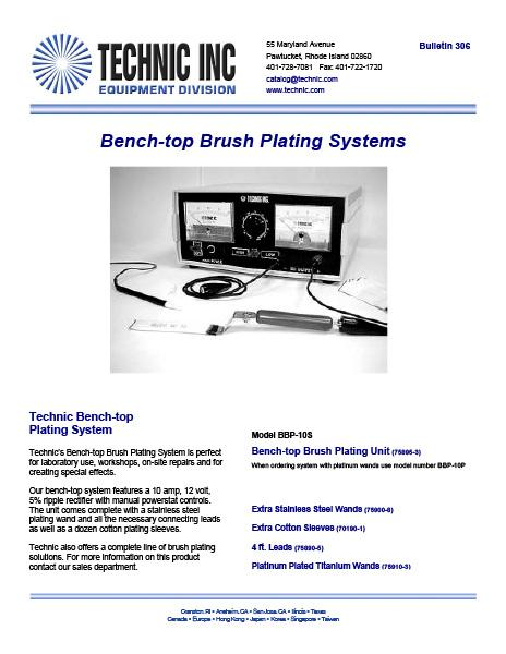 Bulletin 306 - Brush Plating System
