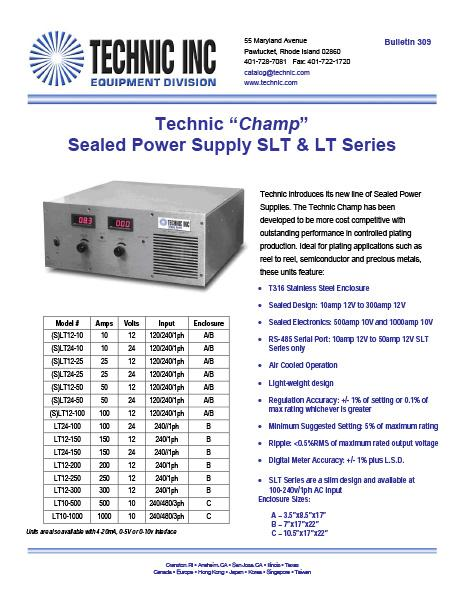 Technic CHAMP Sealed Power Supply LT Series