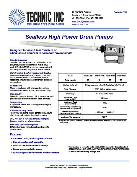 Sealless High Power Drum Pumps