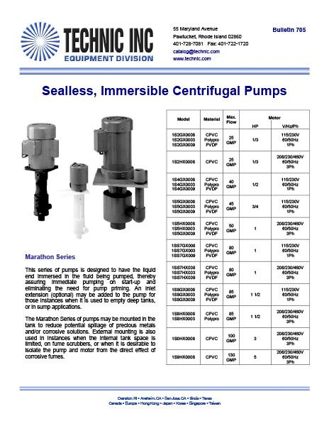 Sealless Immersible Centrifugal Pumps