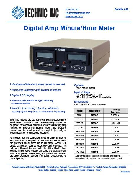 Solid State Amp Minute/Hour Meter
