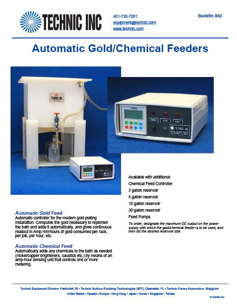 Automatic Gold/Chemical Feeder