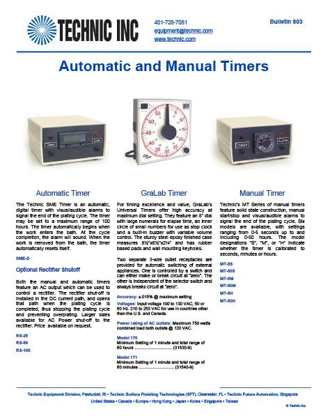 Automatic and Manual Timers