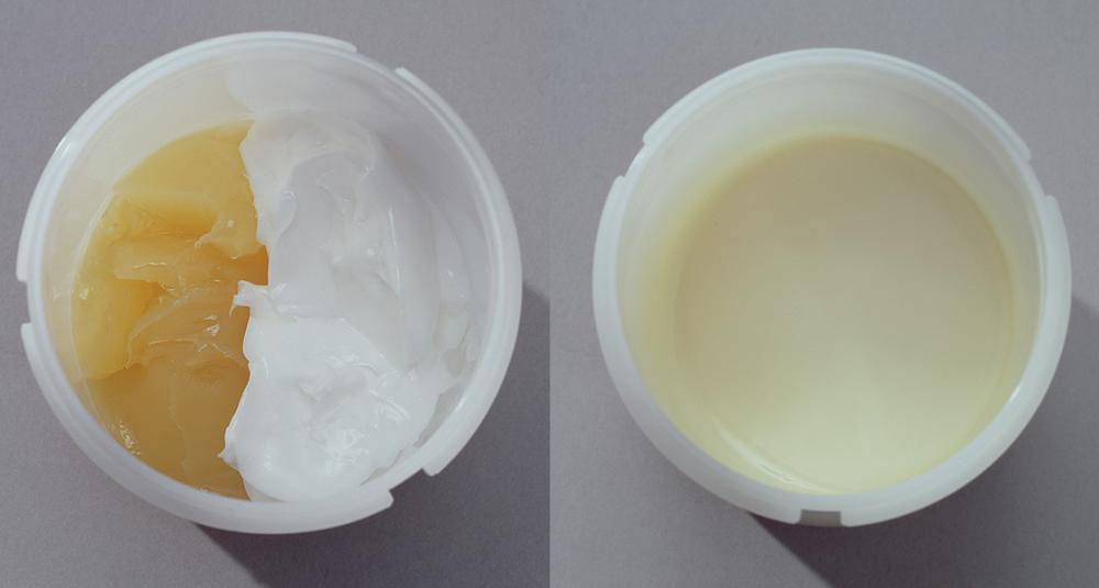 Face Cream - Complete mixing of widely differing viscosity components