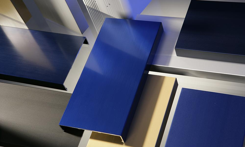 Anodized building materials