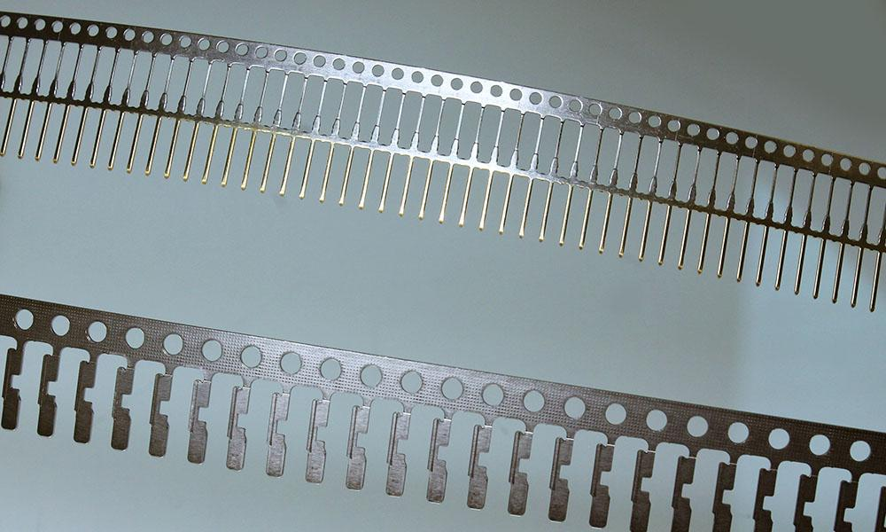 Controlled depth plated pins